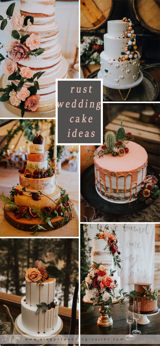 rust cake ideas perfect for fall wedding