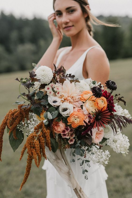 rust wedding color bohemian succulents cacti with herbs and flowers