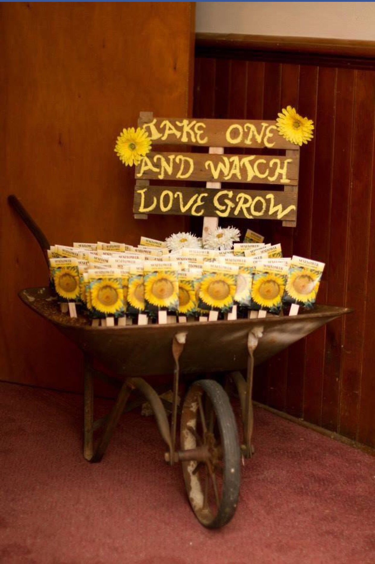 rustic sunflower seed wedding gifts