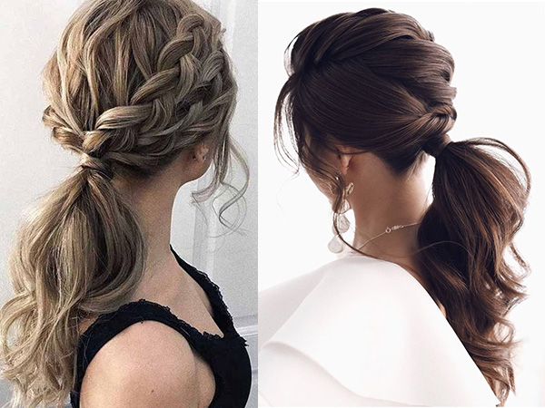 simple and stylish ponytail bridal hairstyles