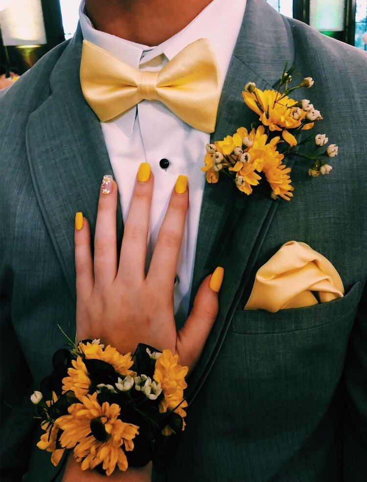 sunflower corsage and boutonniere set wedding Ideas