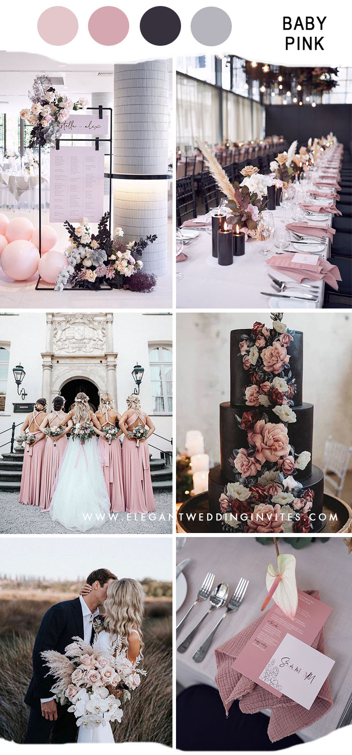 unique baby pink modern bohemian indoor glamour wedding ideas