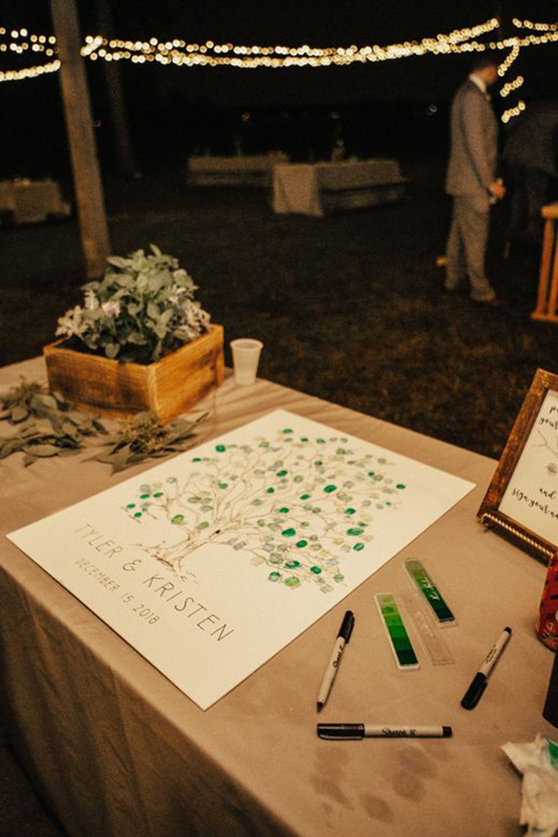 Funny Fingerprinting Wedding Guest Book ideas