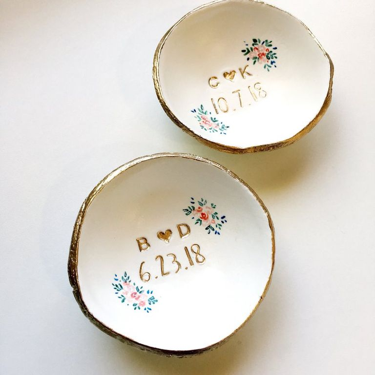 Mrs. ring dish bridal shower gift for bride-to-be