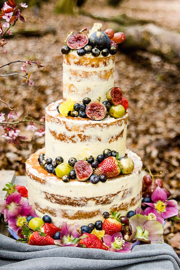bright friut weddding cakes in the fall woods wedding inspiration