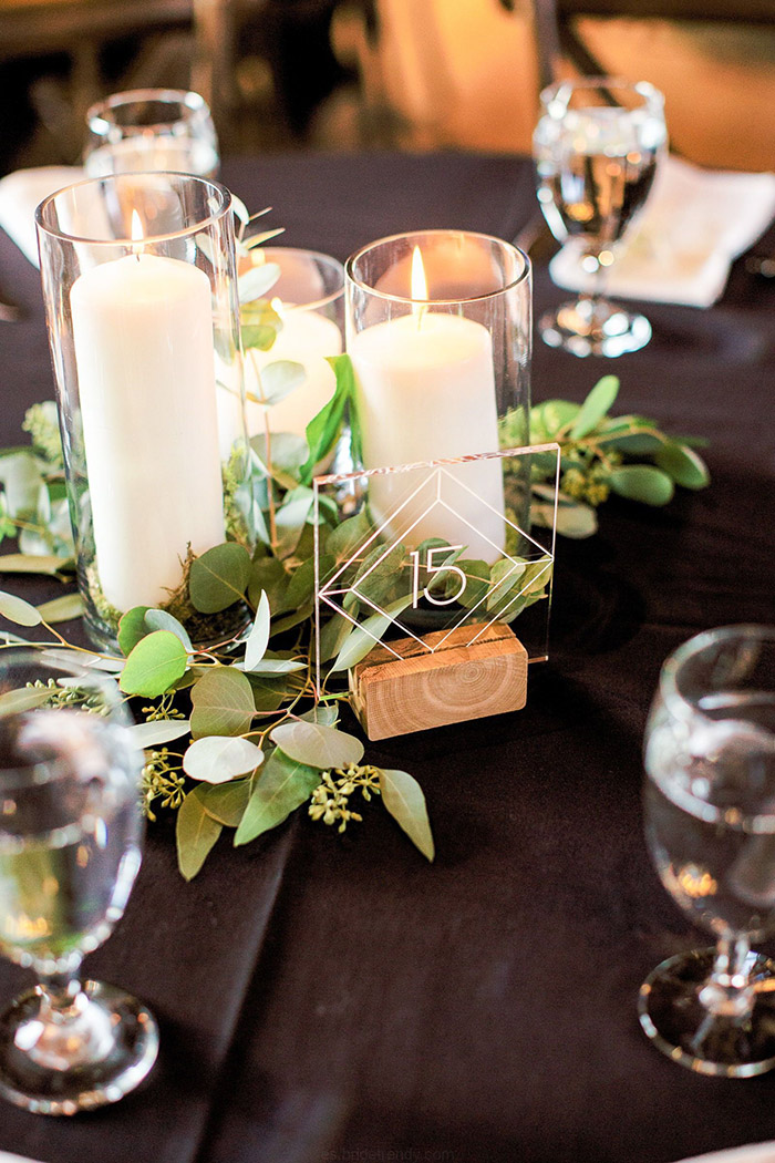 cool acrylic wedding reception table numbers