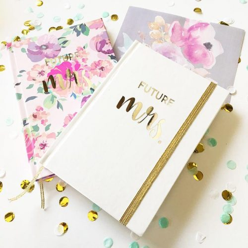 future mrs journal note book for unique bridal shower gift ideas