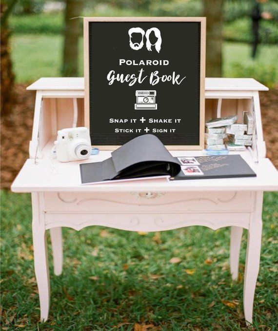 intimate wedding idead with amazing wedding guest book ideas