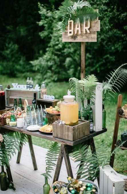 small and intimate wedding ideas with snack bar