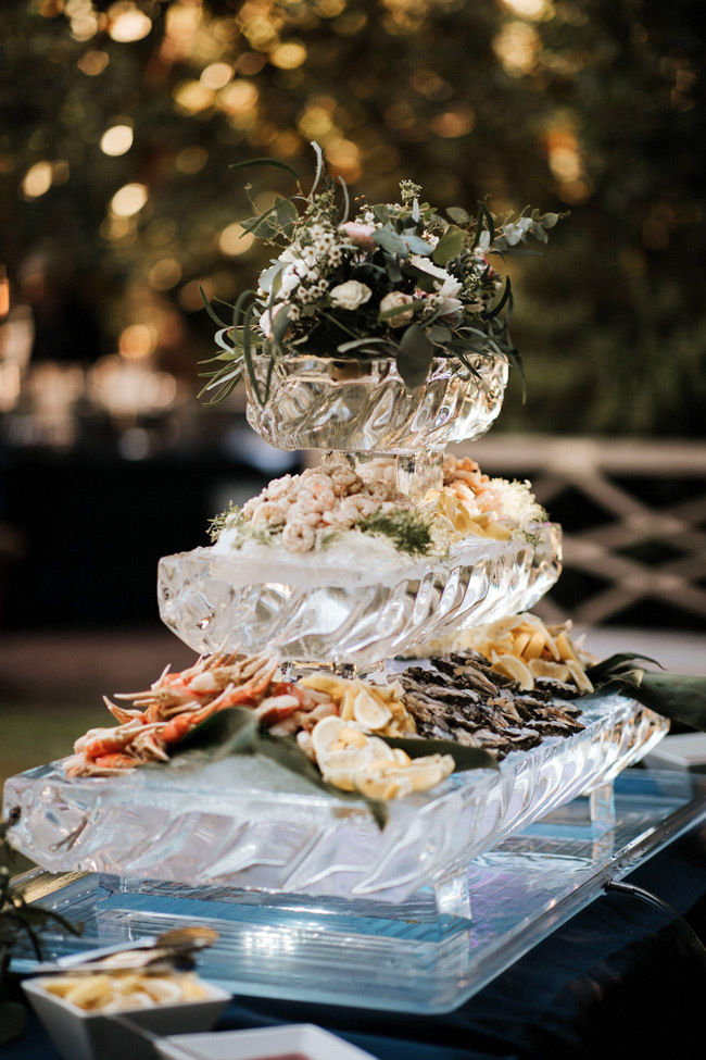 small wedding ideas for create a buffet station for guests