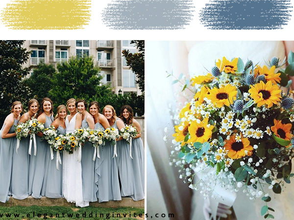 sunflower themed wedding colors