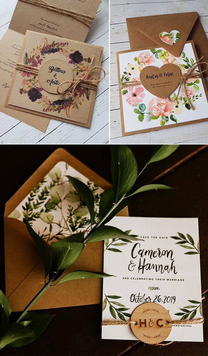 tagged rustic wedding invitation suite
