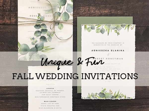 unique and fun fall wedding invitations
