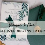 8 Unique & Fun Wedding Invitations that Really Stand Out in Fall