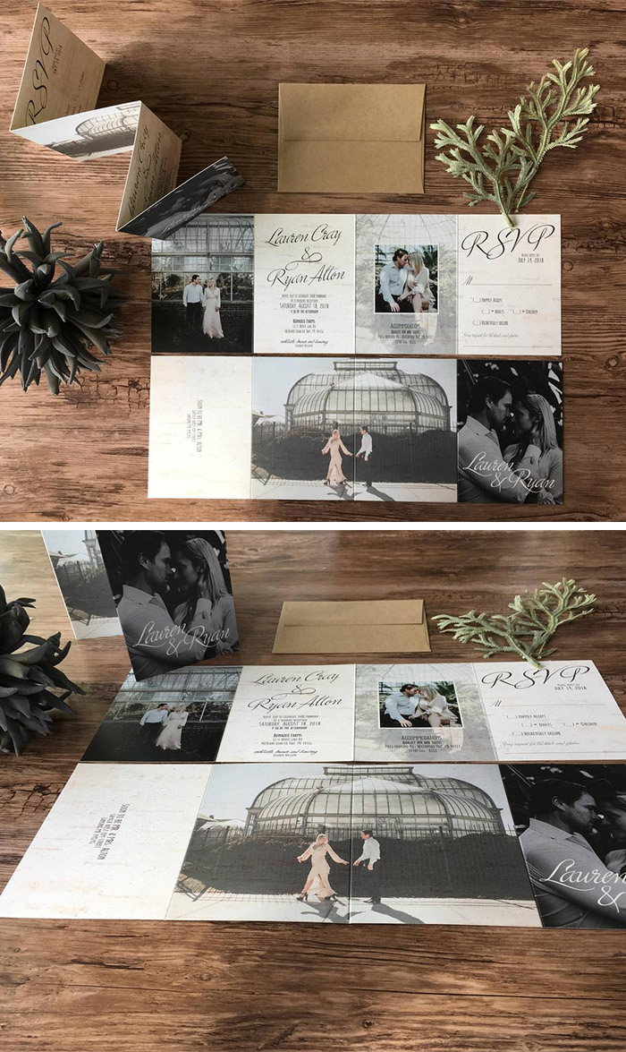 affordable all in modern elopement wedding invitations