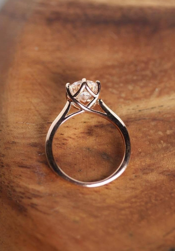 alluring rose gold solitaire engagement ring