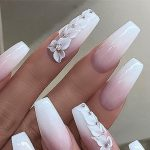 32 most beautiful bridal Wedding nails' design ideas for your big day
