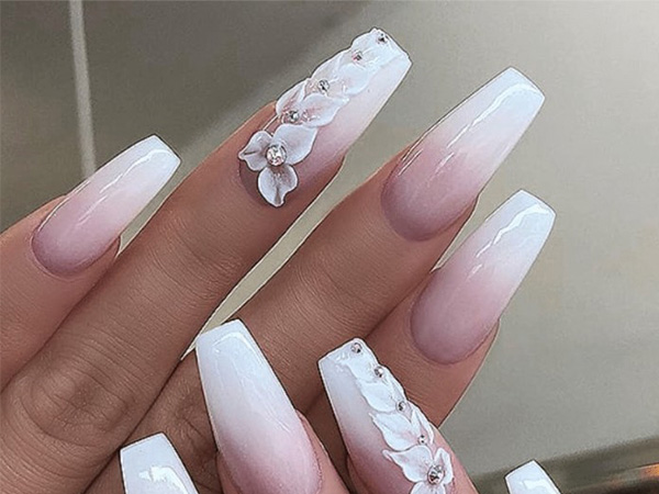 beautiful bridal nails for your wedding look