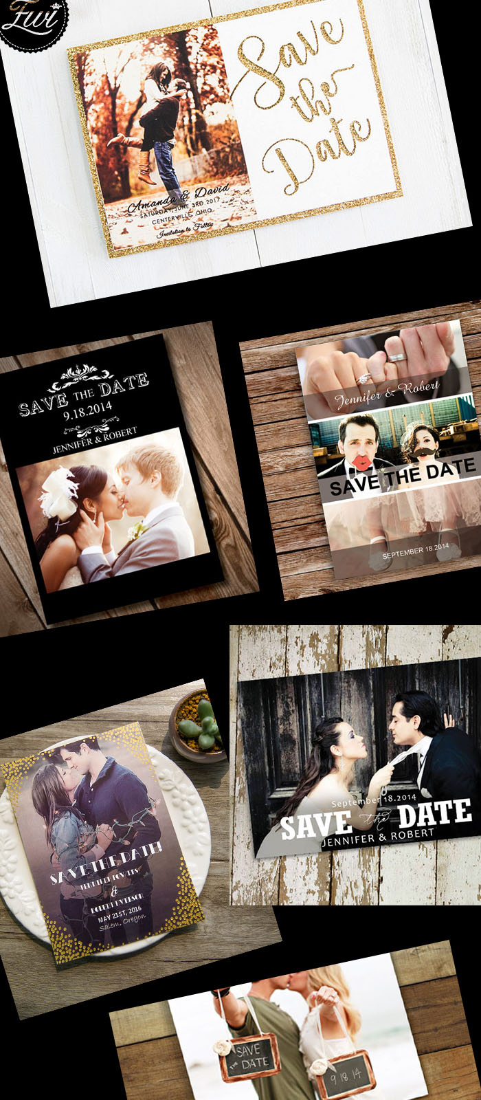 cheap save the date cards with heartfelt bride and groom photos