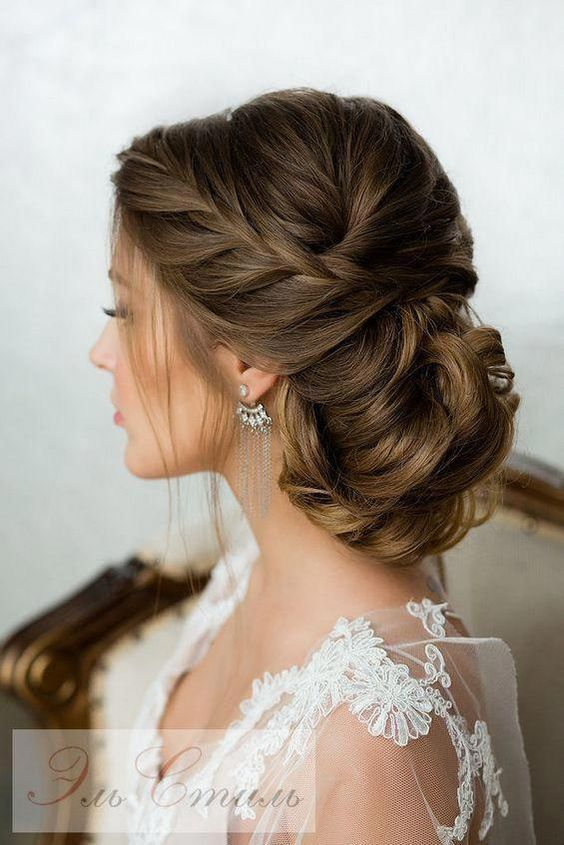incredible wedding and bridal-low updo hairstyles