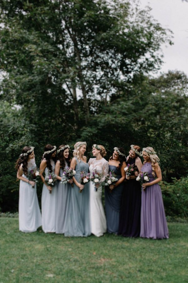 purple and mint green mismatched bridesmaid dresses ideas