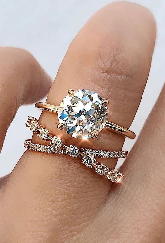 special stackble diamond engagement wedding rings