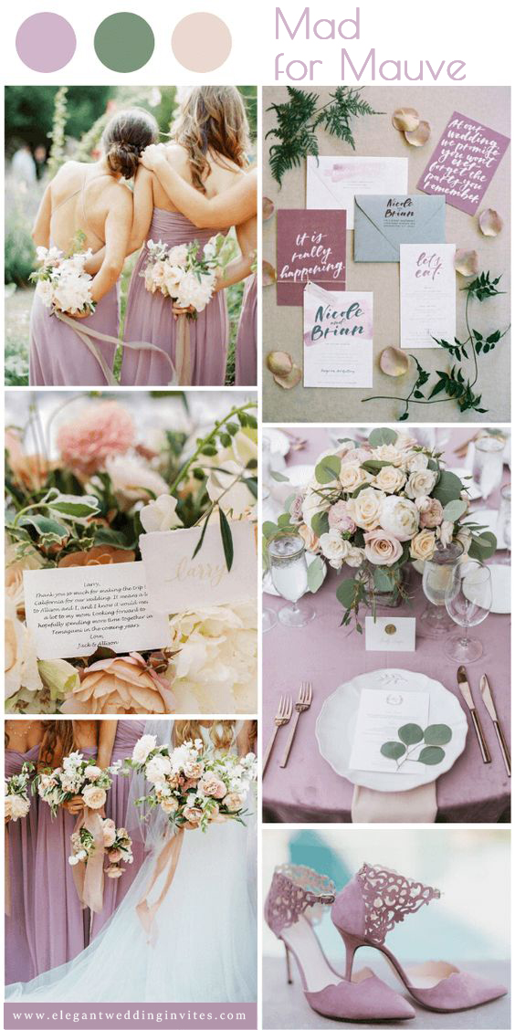 stylish and pretty mauve color inspiration for spring summer wedding
