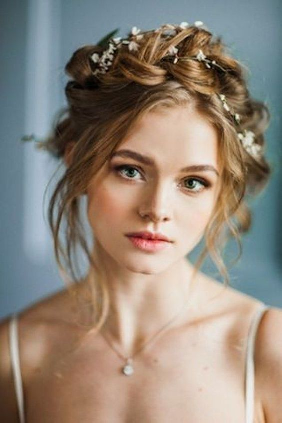 twisted vintage updo bridal haistyles for short hairs