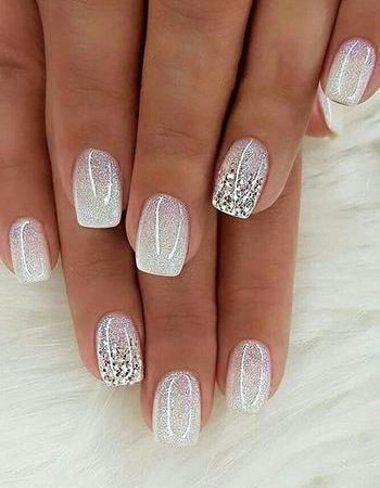 white acrylic wedding nails with buckle for bride