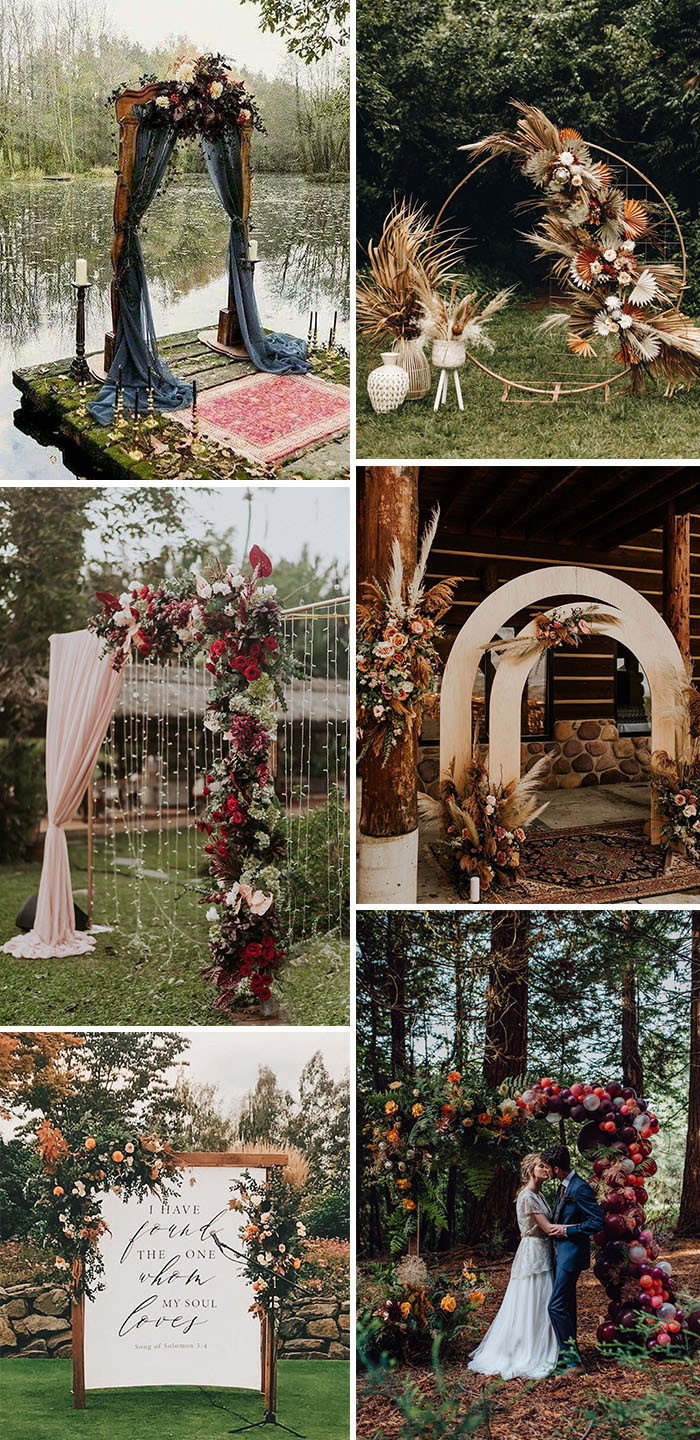 25 beutiful fall wedding arches and altars
