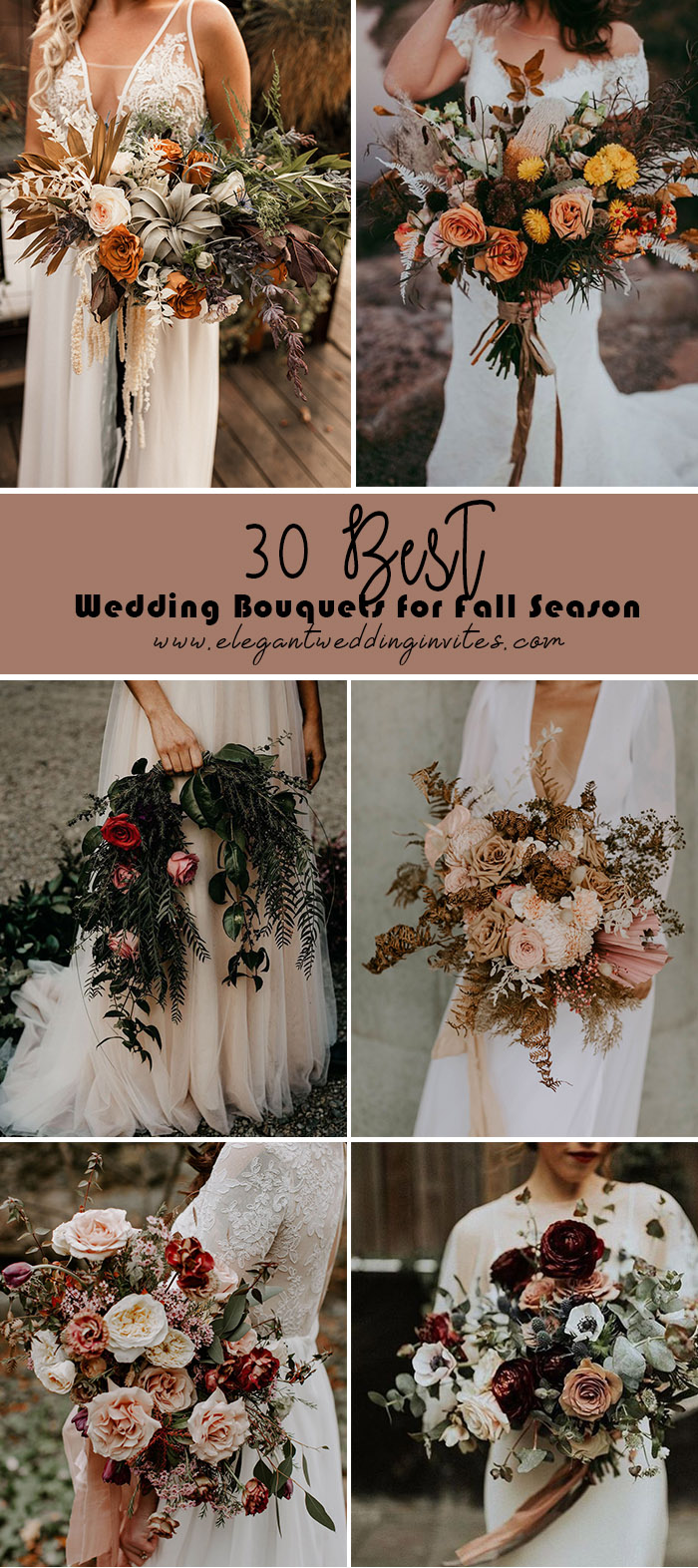 30 best wedding bouquets for fall season
