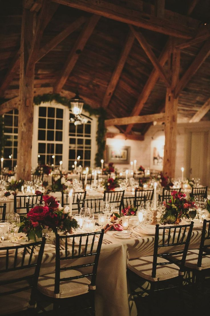 charming festive winter wedding reception ideas