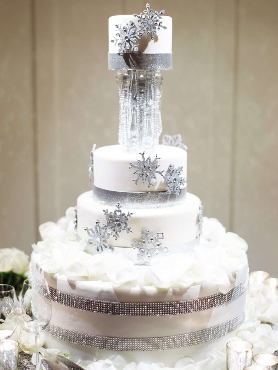 dramatic crystal and glitter tall wedding cake ideas