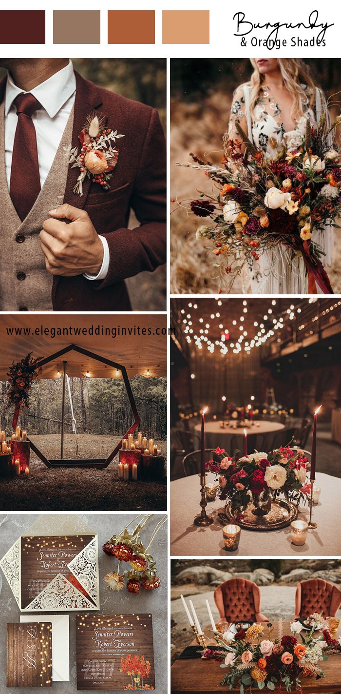 fall boho chic october wedding colors