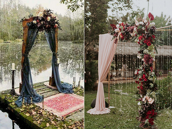 gorgeous fall wedding arches and altars