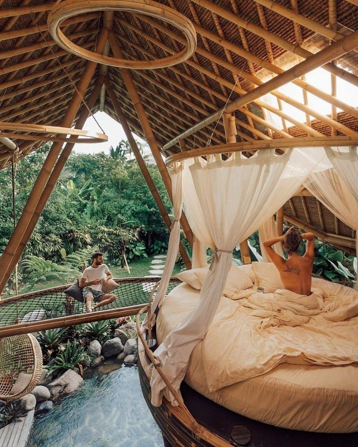 most relaxing honeymoon photos in the forest morning