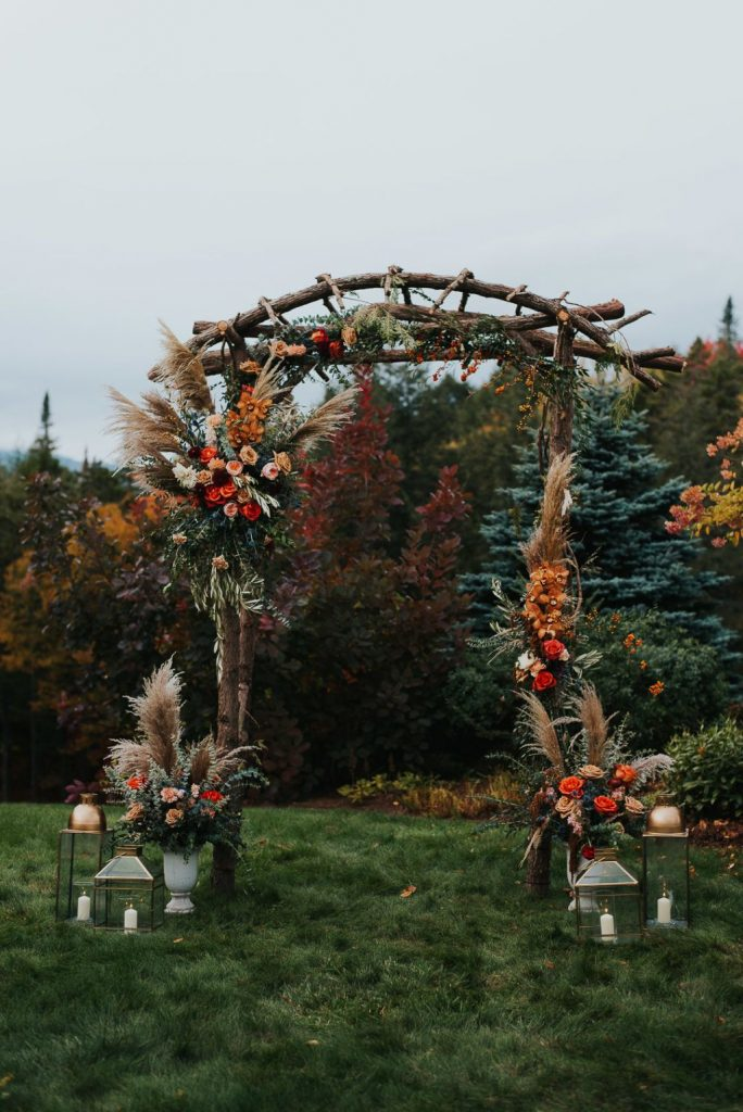 unique rustic wooden rustic wedding arch ideas