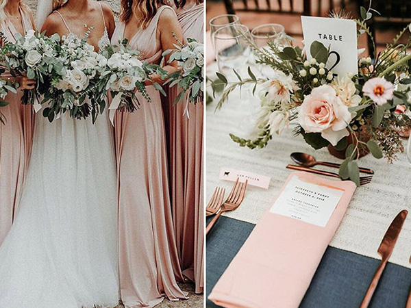 10 elegant wedding colors that inspires