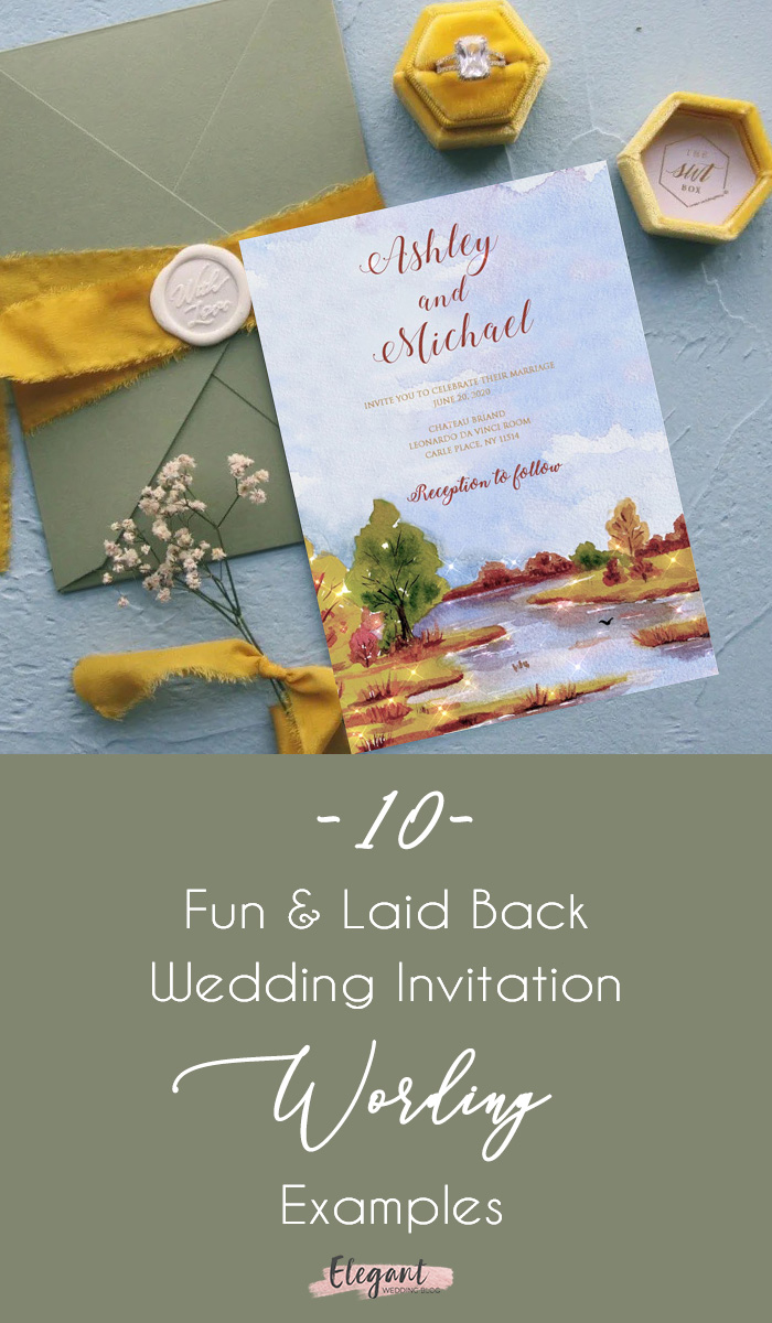 10 fun wedding invitation wording ideas
