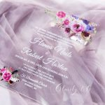affordable purple rustic acrylic wedding invitations cax007 2