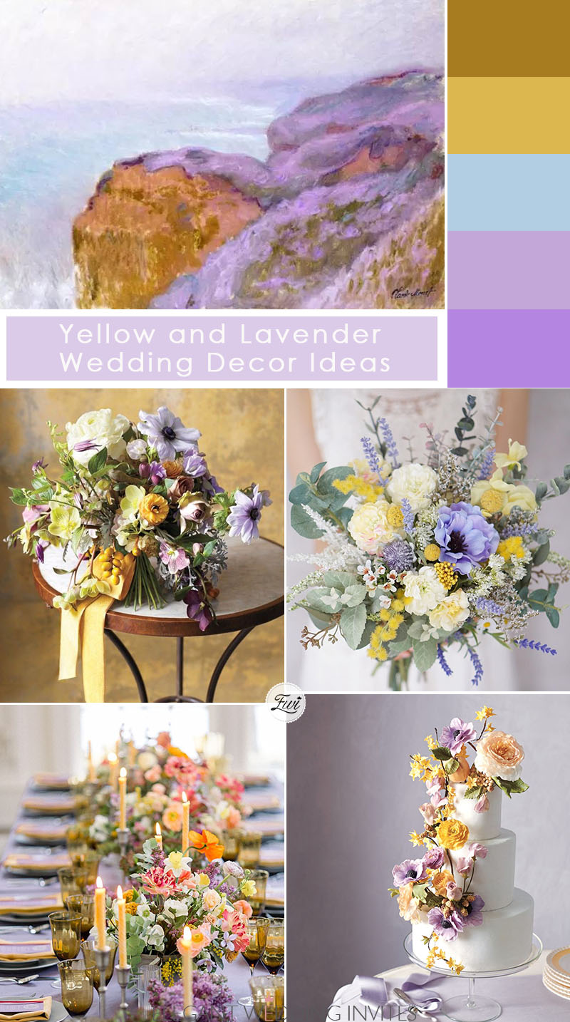 yellow and purple wedding ideas for chic micro wedding