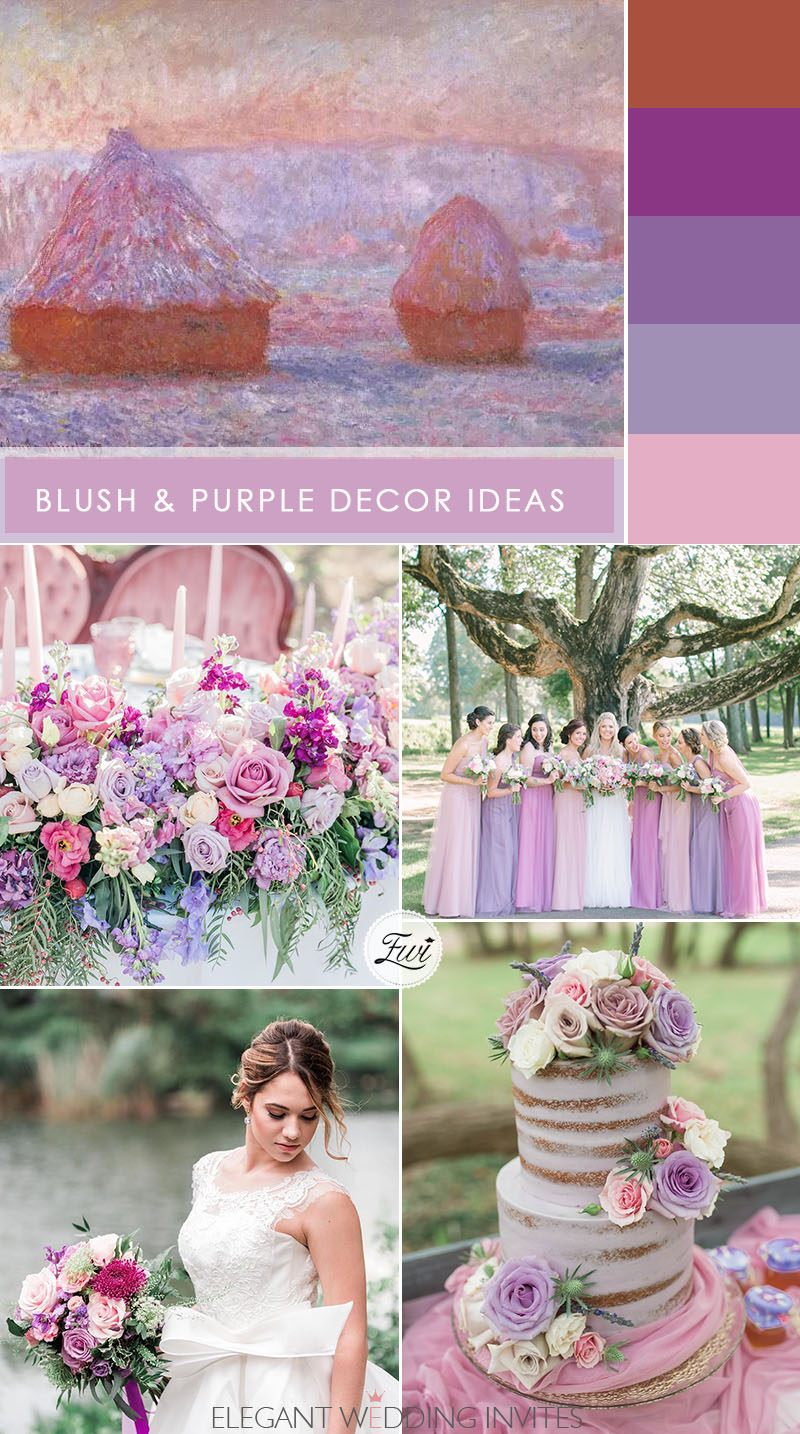 blush pink and lavender decor ideas for rustic wedding ideas