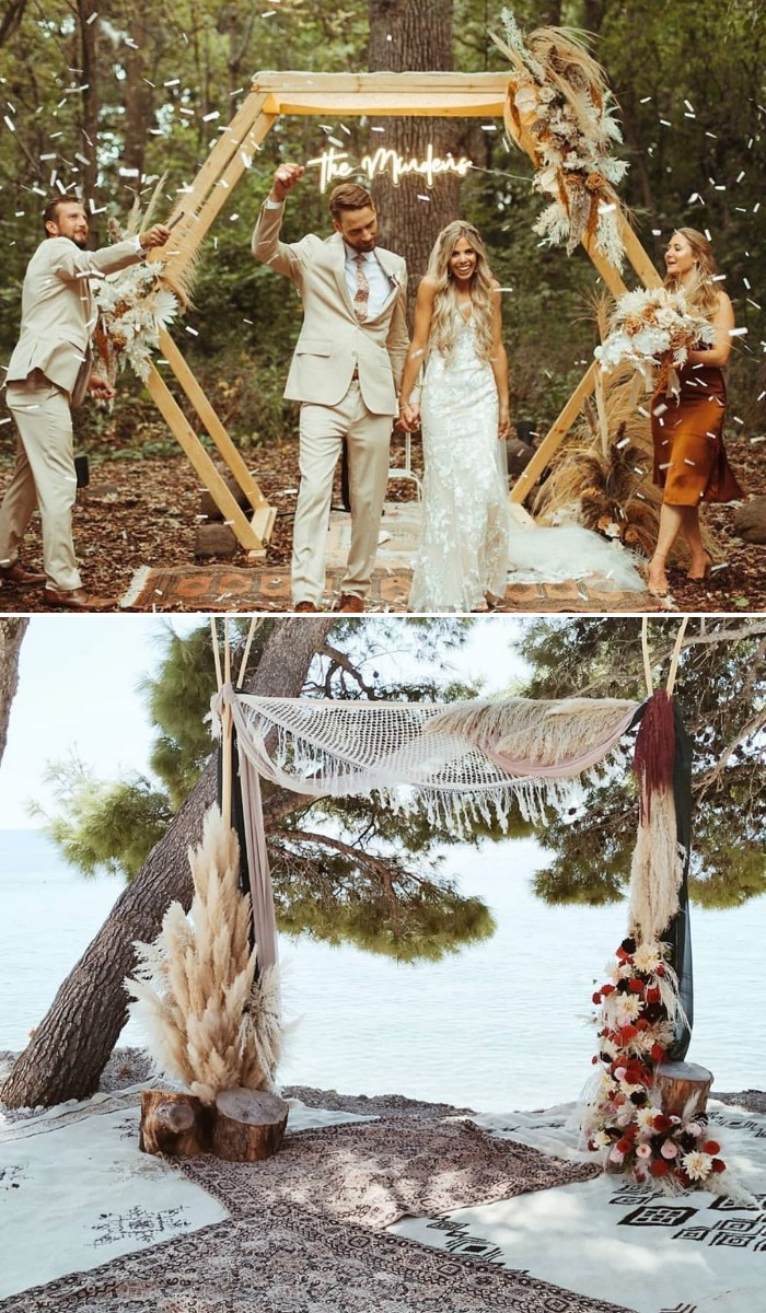 boho outdoor wedding arch ideas for small wedding ideas