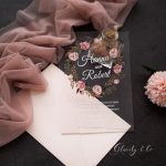 romantic dusty rose floral acrylic wedding invitations ca030 1 1