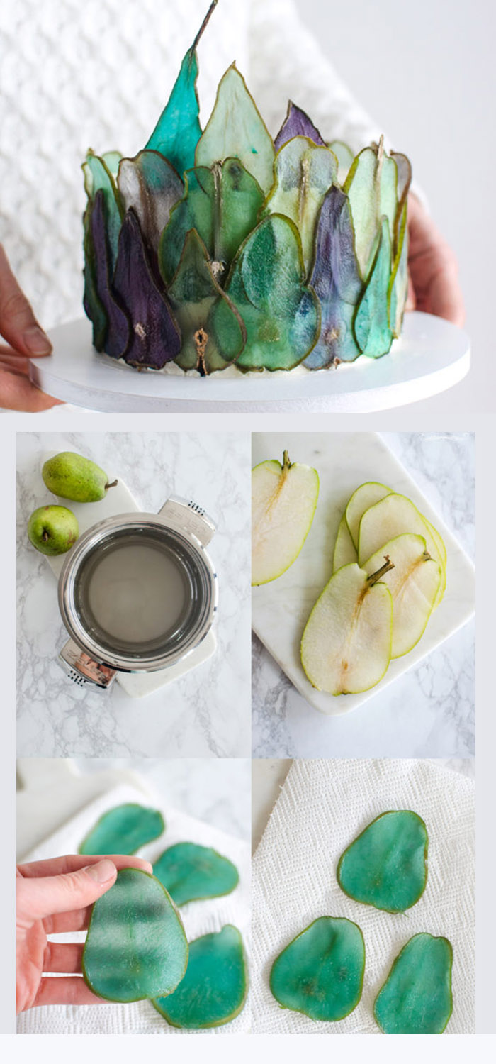 small different dried pear weddigng cake diy project