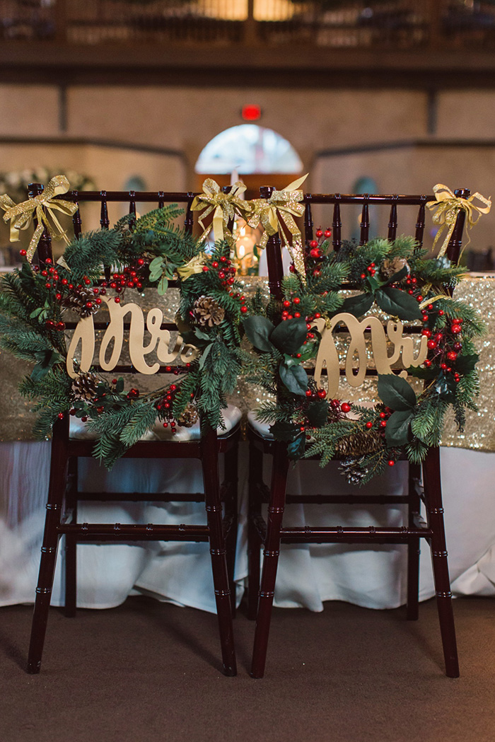 bride and groom wedding chair for chrismas wedding party