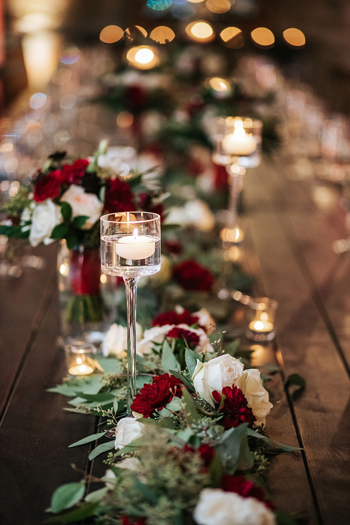 burgundy and white flowers wedding centerpieces for christmas wedding