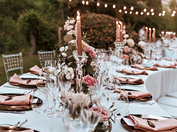 chic rose gold wedding table decorations ideas
