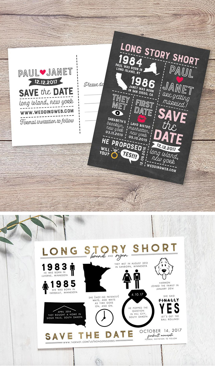 customized love story short save the date