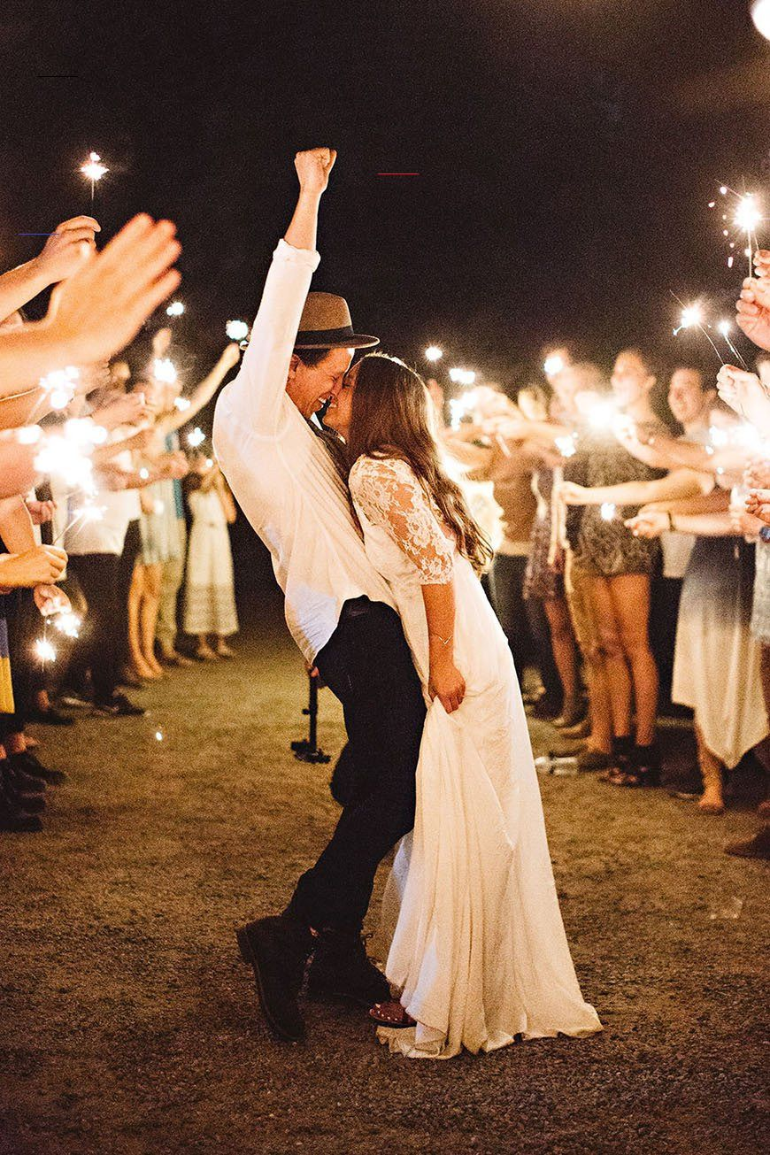 romantic couple shoot photos with sparklers